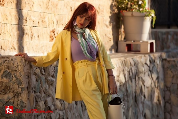 Redhead Illusion - Fashion Blog by Menia - Yellow Suit - Missguided-02-05