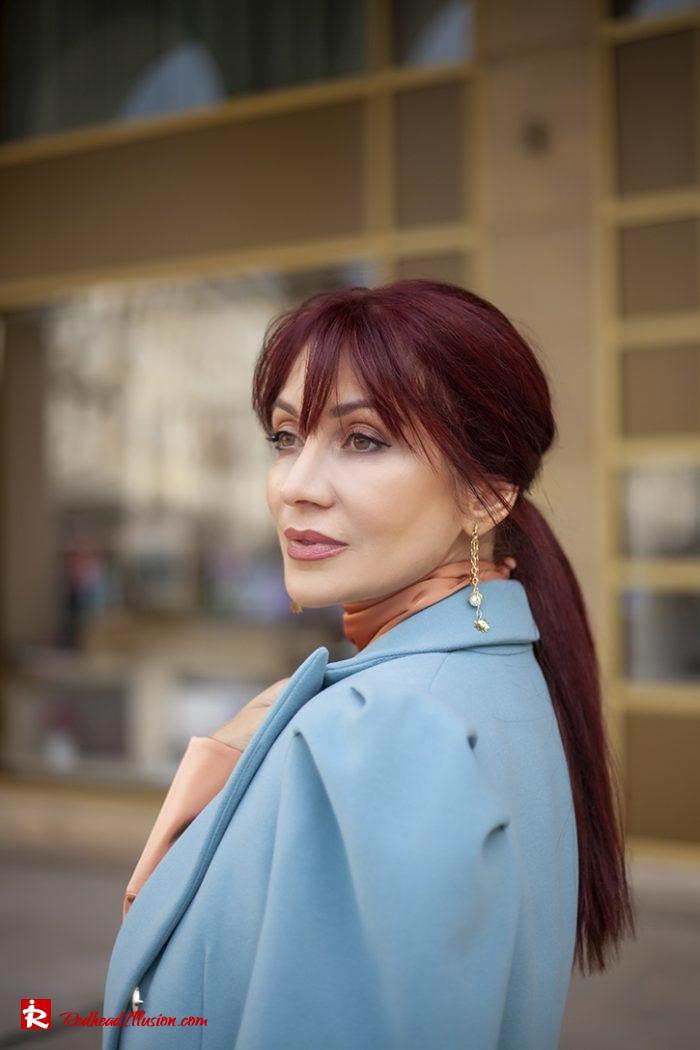 Redhead Illusion - Fashion Blog by Menia - Soft Elegance - Access Coat - Shein Dress-10