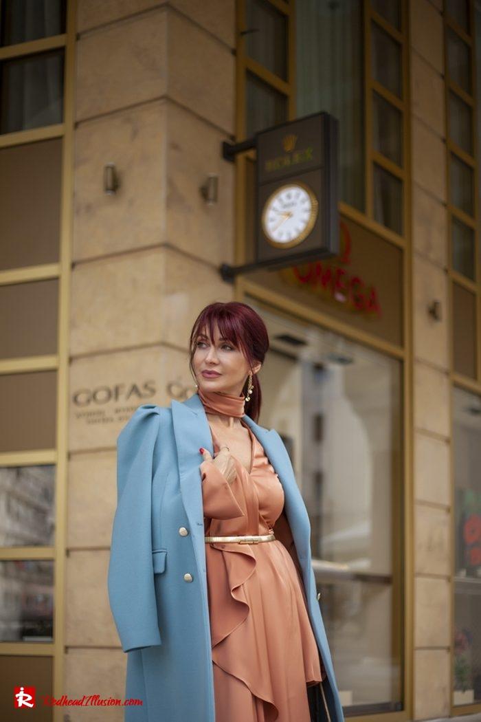Redhead Illusion - Fashion Blog by Menia - Soft Elegance - Access Coat - Shein Dress-11