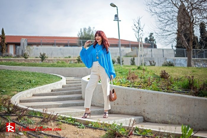 Redhead Illusion - Fashion Blog by Menia - Womens Spring Outfits With Llight Blue Shirt-05