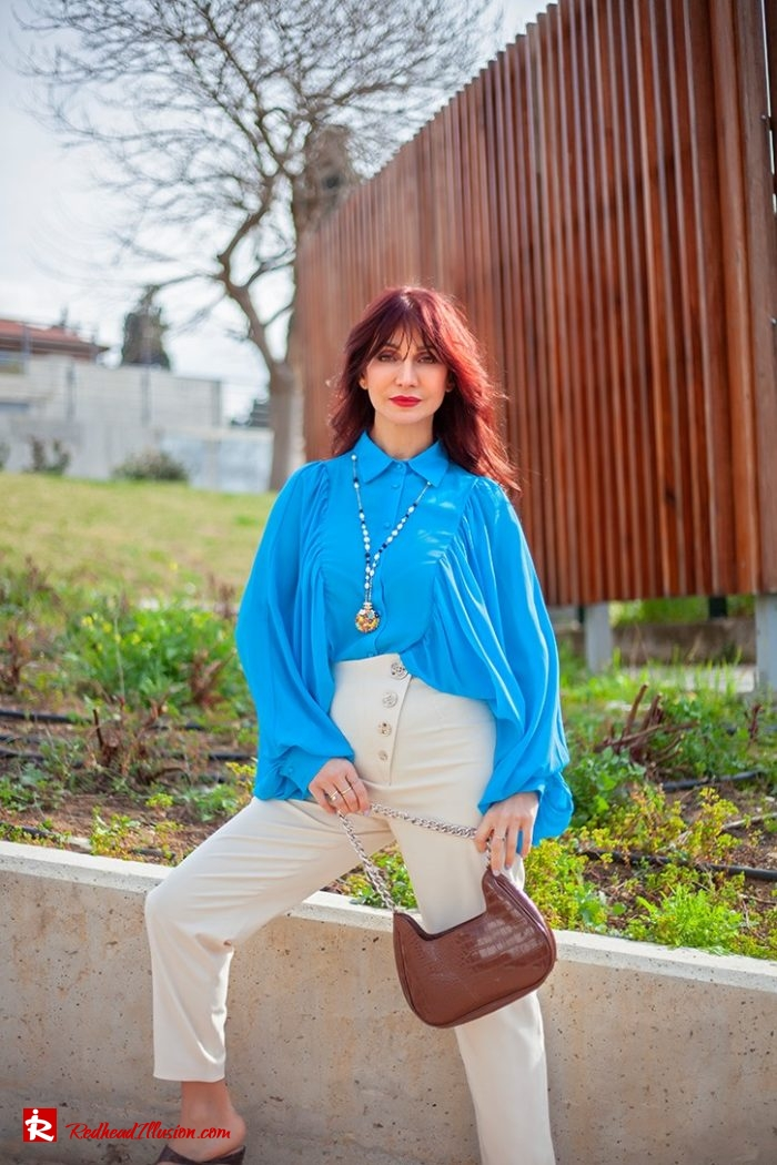 Redhead Illusion - Fashion Blog by Menia - Womens Spring Outfits With Llight Blue Shirt-06