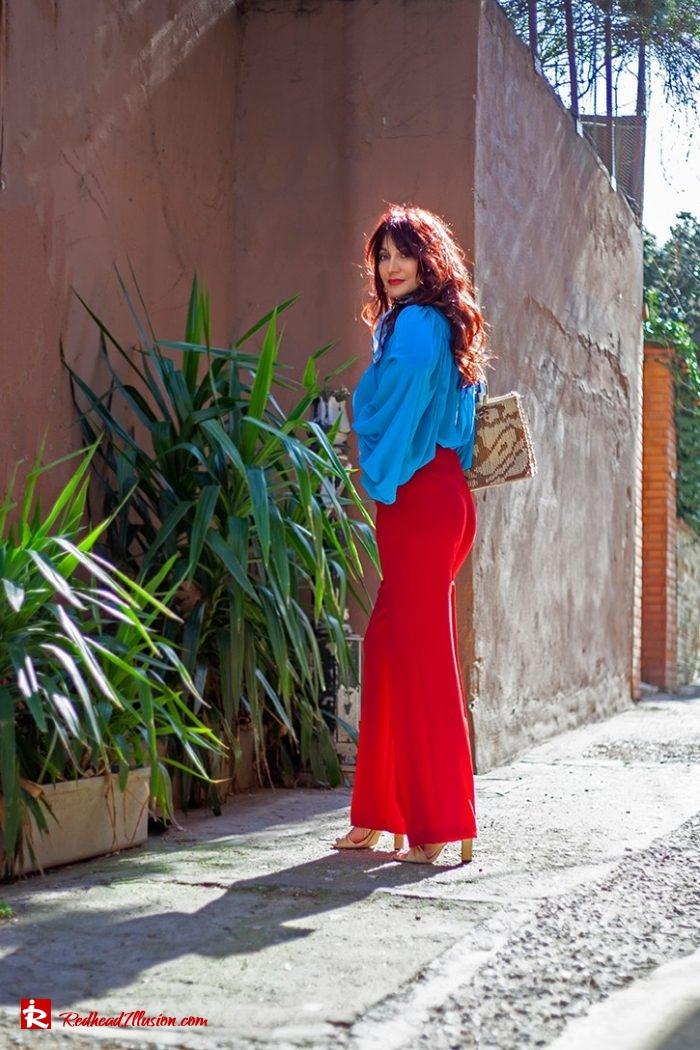 Redhead Illusion - Fashion Blog by Menia - Womens Spring Outfits With Llight Blue Shirt-07