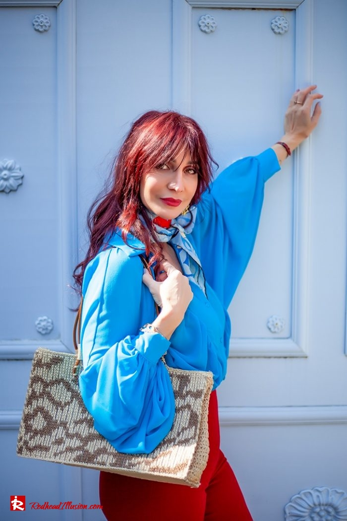 Redhead Illusion - Fashion Blog by Menia - Womens Spring Outfits With Llight Blue Shirt-08