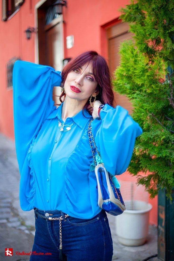 Redhead Illusion - Fashion Blog by Menia - Womens Spring Outfits With Llight Blue Shirt-12