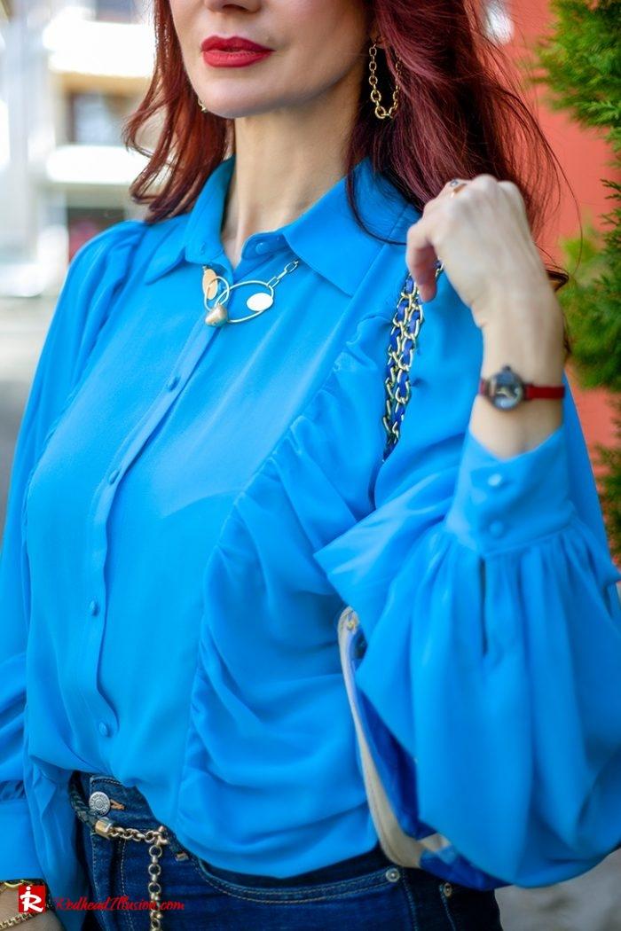 Redhead Illusion - Fashion Blog by Menia - Womens Spring Outfits With Llight Blue Shirt-13
