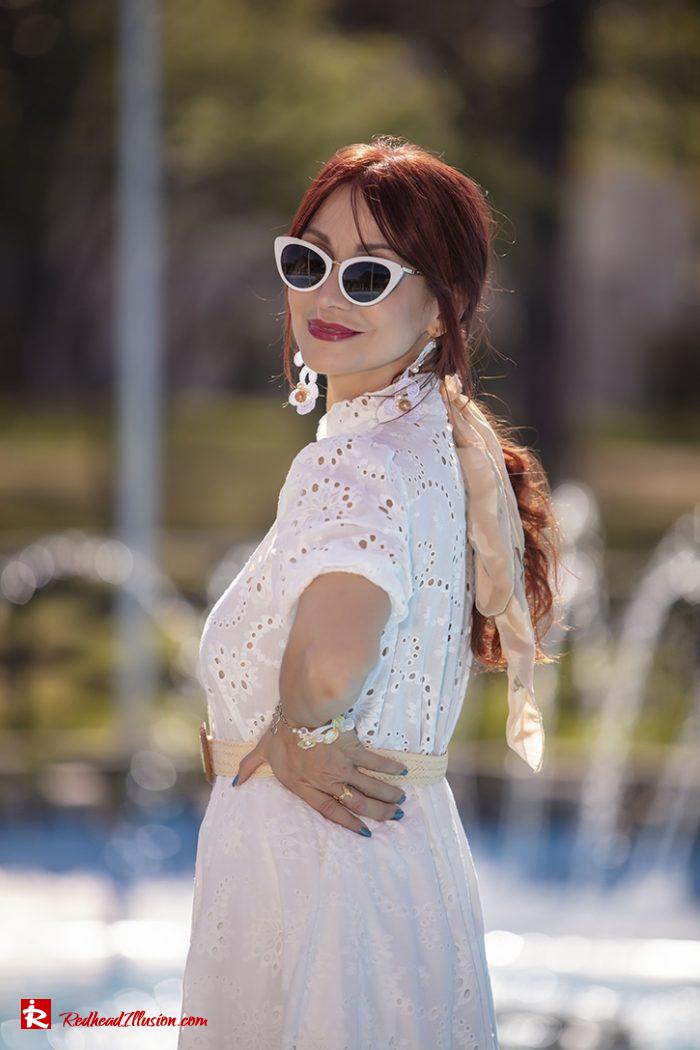 Redhead Illusion - Fashion Blog by Menia - White Lace Dress-02