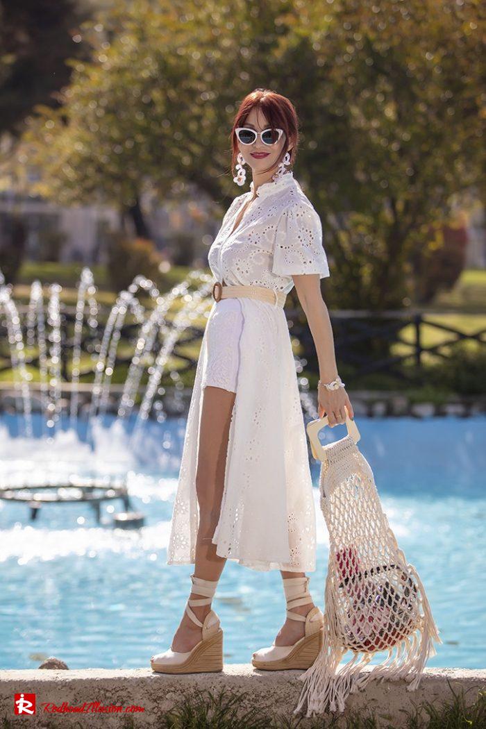 Redhead Illusion - Fashion Blog by Menia - White Lace Dress-03
