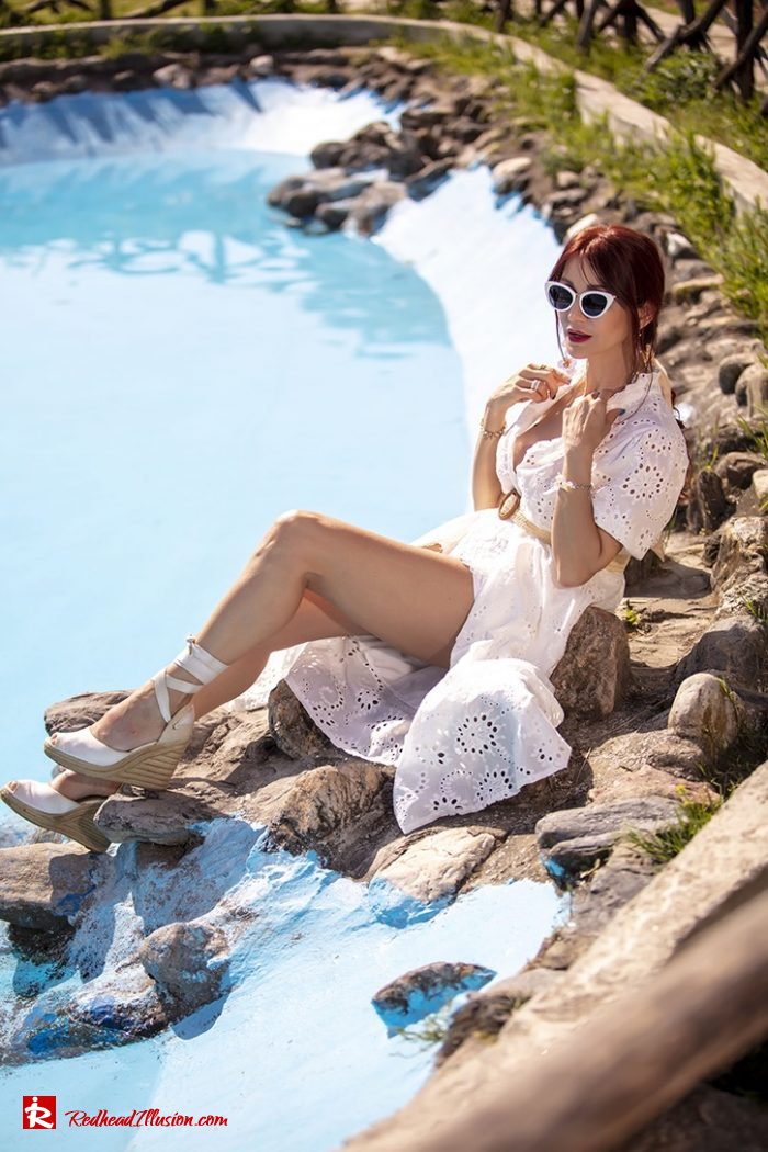 Redhead Illusion - Fashion Blog by Menia - White Lace Dress-05