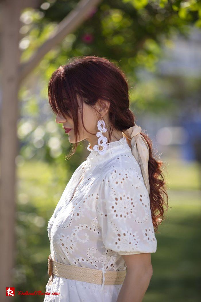 Redhead Illusion - Fashion Blog by Menia - White Lace Dress-07
