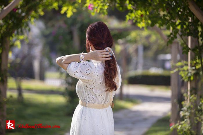 Redhead Illusion - Fashion Blog by Menia - White Lace Dress-08