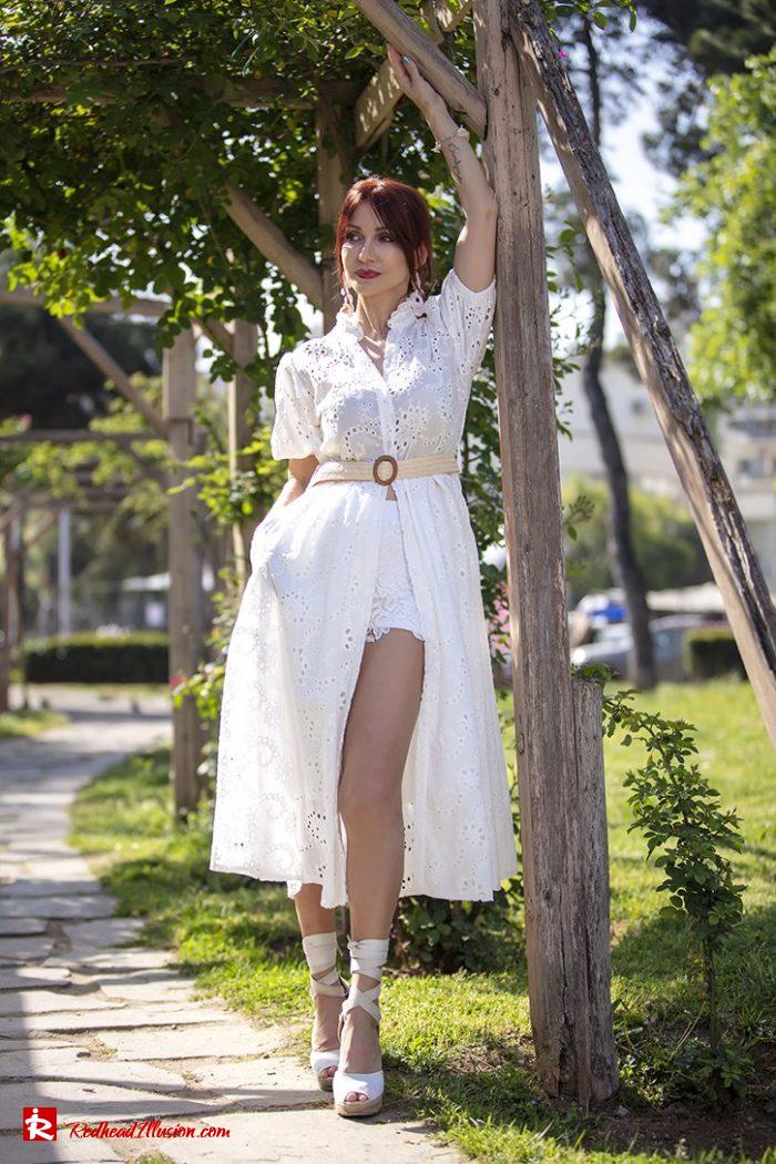 Redhead Illusion - Fashion Blog by Menia - White Lace Dress-09