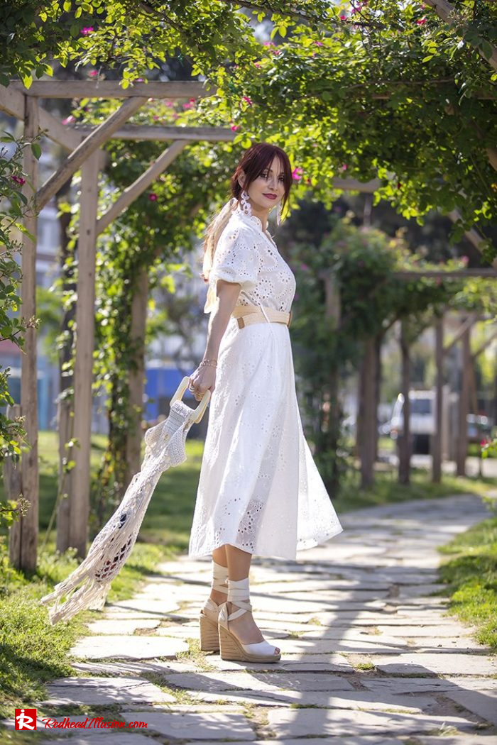 Redhead Illusion - Fashion Blog by Menia - White Lace Dress-10