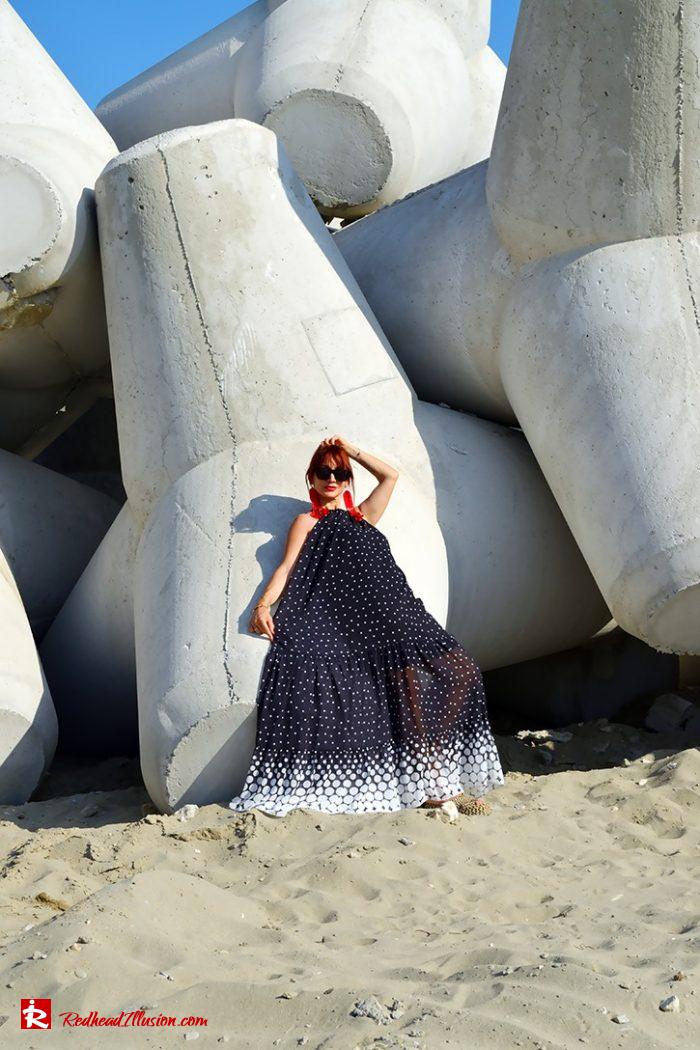 Redhead Illusion - Fashion Blog by Menia - Long, Airy, Elegant Dress-07