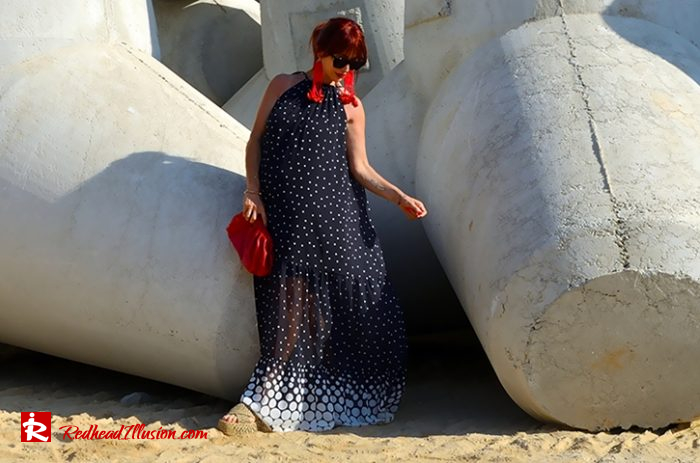 Redhead Illusion - Fashion Blog by Menia - Long, Airy, Elegant Dress-11