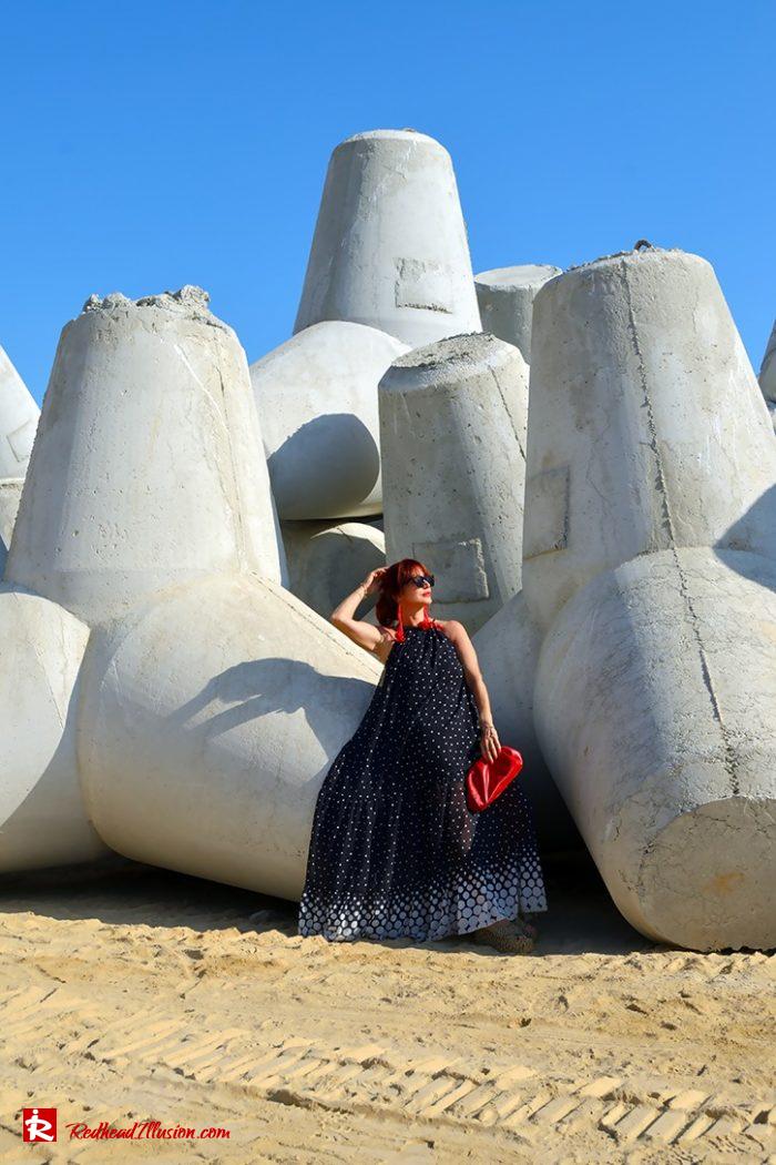 Redhead Illusion - Fashion Blog by Menia - Long, Airy, Elegant Dress-14